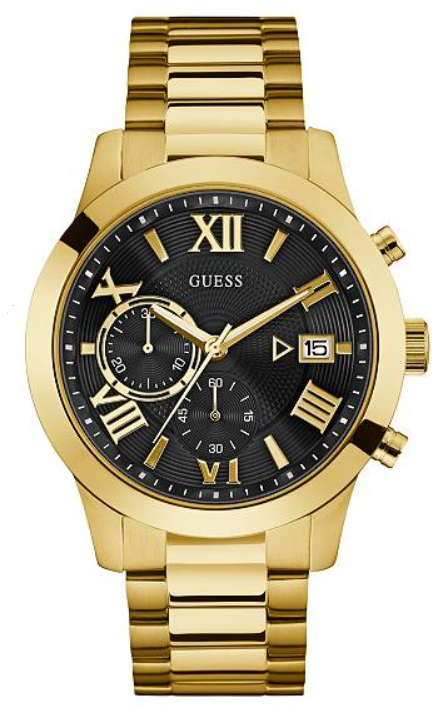 GUESS Contemporary Gold-Tone Multi-Functions Chronograph U0668G8 Watch