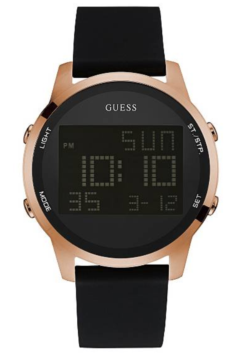 Guess Black and Rose Gold-Tone Digital Chronograph U0787G2 Watch