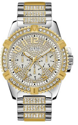 GUESS Two-Tone Glitzy Rhinestone Dress Watch U0799G4