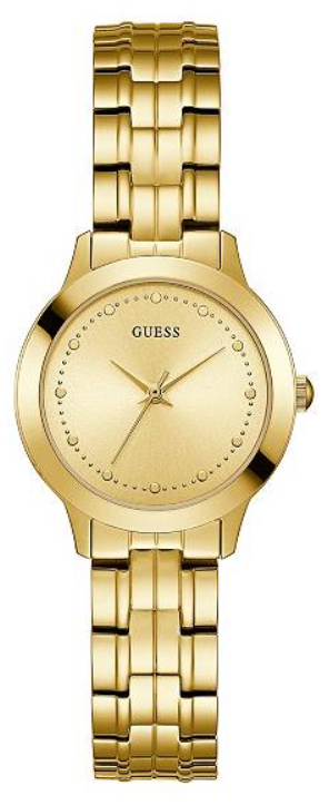 GUESS Gold-Tone Slim Classic Watch U0989L2