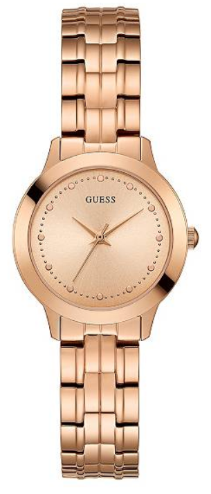 GUESS U0989L3 Rose Gold-Tone Slim Classic Watch