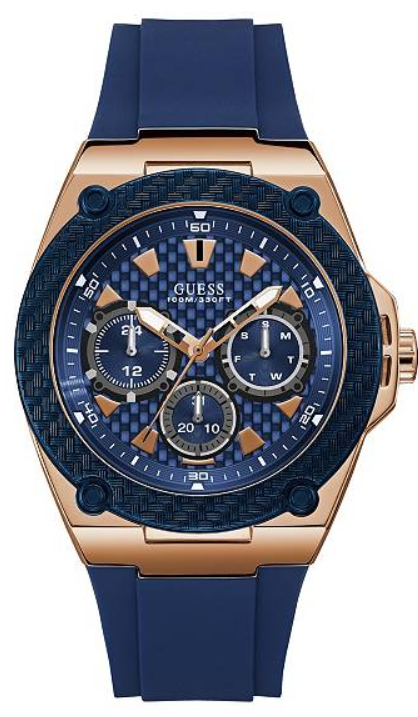 Guess Blue and Gold-Tone U1049G2 Watch