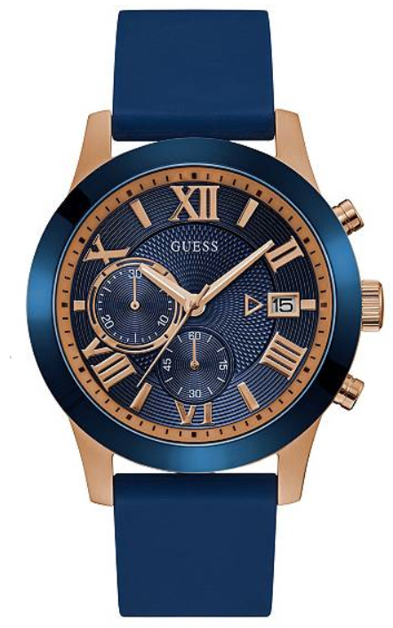 Guess Blue and Rse Gold-Tone U1055G2 Watch