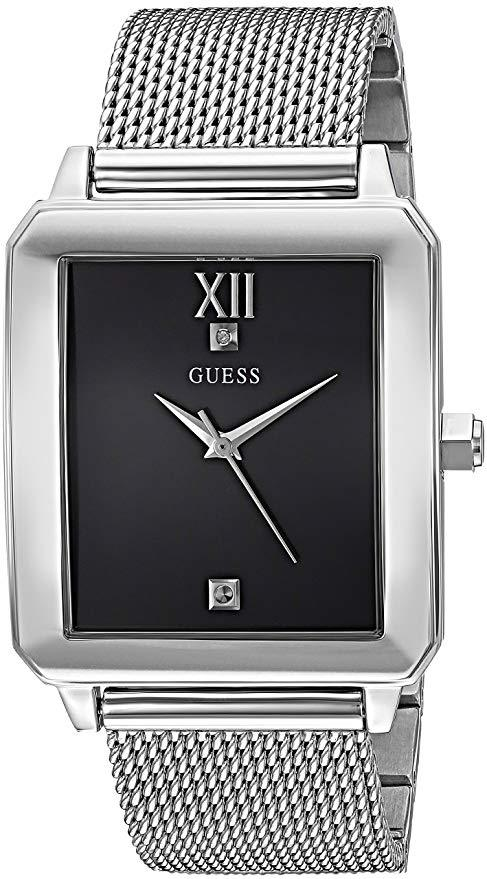 GUESS Men's Stainless Steel Diamond Dial Watch U1074G1