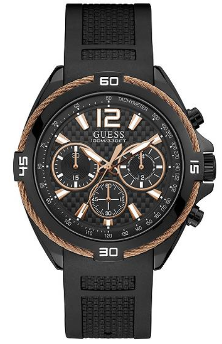 GUESS Black and Gold-Tone Chronograph U1168G3 Watch