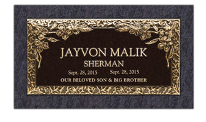 "Bronze 24""x12"" Single Memorial Marker - ELITE EDITION"