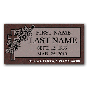 SINGLE FLAT HEADSTONES - IMPERIAL RED