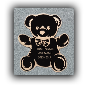 "Bronze - 11"" x 13"" Custom Marker - TEDDY BEAR"