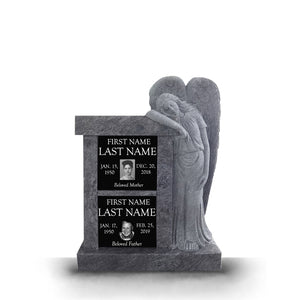 The Ayzlee 2 Niche Columbaria with Angel Statue