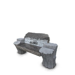 "The Redford -Custom 68"" Hand Carved Tree Leg Bench"