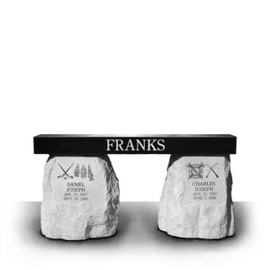 The Franks Boulder Leg Memorial Bench