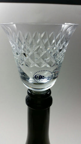 Hand cut crystal Wine tasting glass stopper Made in USA, Trumz pattern - O'Rourke crystal awards & gifts abp cut glass