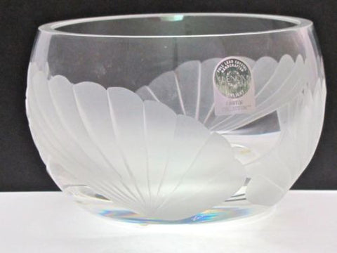 Signed Lenox Cut glass Fanlight bowl Crystal  Made in USA Limited collection - O'Rourke crystal awards & gifts abp cut glass