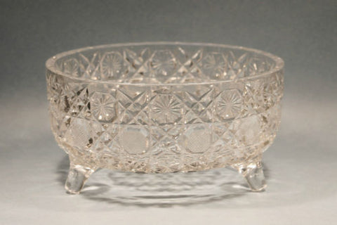 American Brilliant Period Hand Cut Glass Antique Ferner In Harvard Pat O Rourke Crystal Awards
