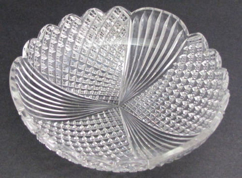 Antique Cut Glass dish from the American Brilliant period, ABP - O'Rourke crystal awards & gifts abp cut glass
