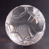 Hand Cut Glass soccer ball award customize paperweight - O'Rourke crystal awards & gifts abp cut glass