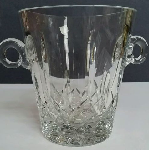 Hand cut glass ice bucket 24 % lead crystal - O'Rourke crystal awards & gifts abp cut glass