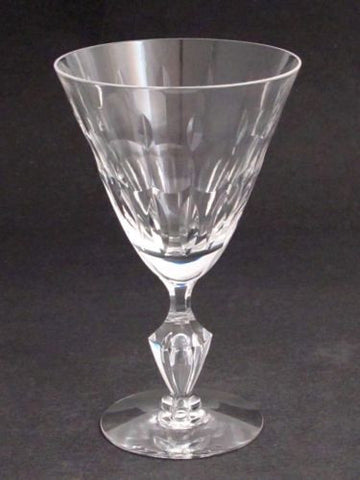 Cut Glass Signed Tiiffin water goblet - O'Rourke crystal awards & gifts abp cut glass