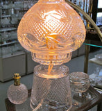 Hand cut Glass 24% lead crystal lamp 2 part - O'Rourke crystal awards & gifts abp cut glass