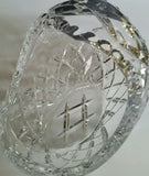 Hand cut crystal basket - O'Rourke crystal awards & gifts abp cut glass