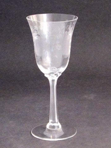 Lenox etched wine  glass Castle garden  Crystal  Made in USA Mt Pleasant PA - O'Rourke crystal awards & gifts abp cut glass
