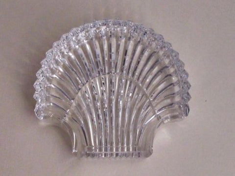 Signed Waterford cut  glass Hand Cut dish / tray shell - O'Rourke crystal awards & gifts abp cut glass