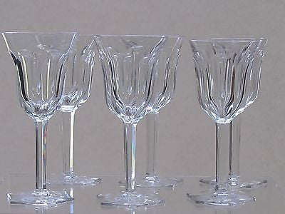 Cut glass wine glass with hand cut  fluted panel  6 pieces - O'Rourke crystal awards & gifts abp cut glass