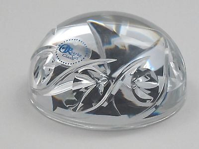 Hand Cut Glass paperweight 24% lead crystal - O'Rourke crystal awards & gifts abp cut glass