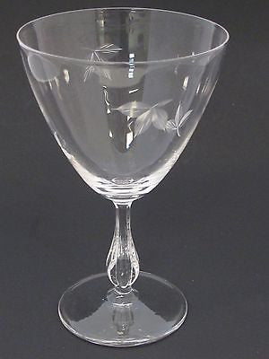 bryce Goblet glass Autumn pattern Hand cut  Crystal  Made in USA Mt Pleasant PA - O'Rourke crystal awards & gifts abp cut glass