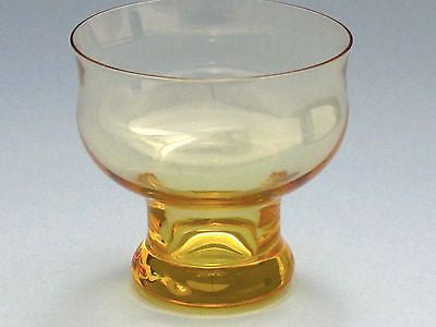 Lenox  Amber finger bowl Crystal  Made in USA Mt Pleasant PA - O'Rourke crystal awards & gifts abp cut glass