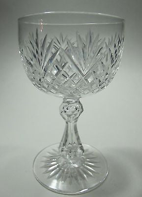 Cut glass  wine stemware Hand cut - O'Rourke crystal awards & gifts abp cut glass