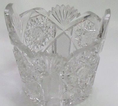 ABP cut glass ice tub Antique crystal Made in USA ABP - O'Rourke crystal awards & gifts abp cut glass