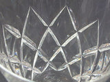 Hand Cut glass  decanter  cross cut star - O'Rourke crystal awards & gifts abp cut glass