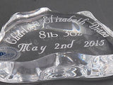 Charlotte Elizabeth Diana British Royal baby paperweight 24% lead crystal - O'Rourke crystal awards & gifts abp cut glass