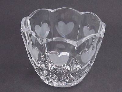 Valentine gift,  lead crystal bowl,  Made in USA ,glass - O'Rourke crystal awards & gifts abp cut glass