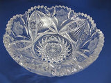 American Brilliant Period hand Cut Glass cool whip bowl Antique gift - O'Rourke crystal awards & gifts abp cut glass