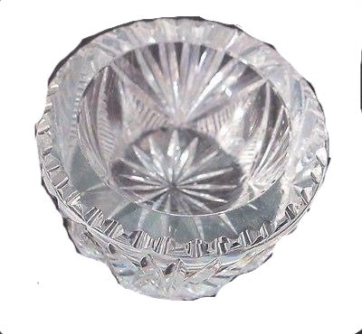 ABP  American Brilliant Period hand Cut Glass salt dip - O'Rourke crystal awards & gifts abp cut glass