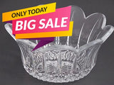 "24%  lead crystal bowl, can customize, Made in USA , glass 8.5"" - O'Rourke crystal awards & gifts abp cut glass"