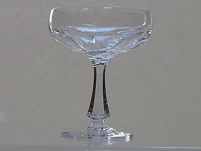 Cut glass champagne / desserts  fluted panel   pieces Signed - O'Rourke crystal awards & gifts abp cut glass