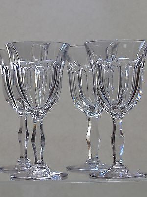 Cut glass water  fluted panel goblets 4 pieces WEBB CORBETT - O'Rourke crystal awards & gifts abp cut glass