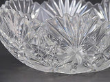 American Brilliant Period hand Cut Glass and mouth blown wheel polished bowl - O'Rourke crystal awards & gifts abp cut glass