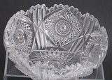 "American Brilliant Period hand Cut Glass  bowl 7.75"" - O'Rourke crystal awards & gifts abp cut glass"