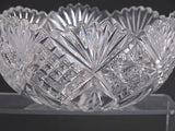 "American Brilliant Period hand Cut Glass mouth blown wheel polished 8"" bowl ABP - O'Rourke crystal awards & gifts abp cut glass"