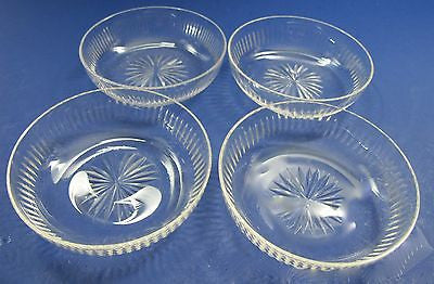 Hand Cut glass dishes 4 piece - O'Rourke crystal awards & gifts abp cut glass