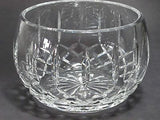 Hand cut glass bowl, 24% lead crystal Great gift or award customize hand polish