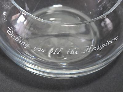 Wishing you'll the Happiness ,lead crystal bowl  Mouth blown, gift - O'Rourke crystal awards & gifts abp cut glass