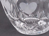 lead crystal bowl, Hearts, Made in USA ,glass - O'Rourke crystal awards & gifts abp cut glass