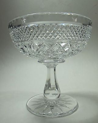 Hand Cut glass compote candy dish good quality - O'Rourke crystal awards & gifts abp cut glass