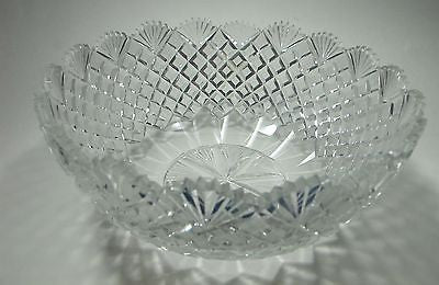 Hand Cut Glass and mouth blown bowl  pattern old hand polished - O'Rourke crystal awards & gifts abp cut glass