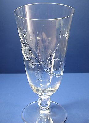 Rosenthal wine glass Rose moss Hand engraved / cut - O'Rourke crystal awards & gifts abp cut glass
